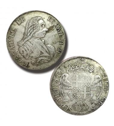1789 DE ROHAN 30 TARI - KNIGHTS OF MALTA SILVER COIN