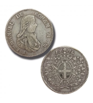 1796 DE ROHAN SCUDO - KNIGHTS OF MALTA SILVER COIN