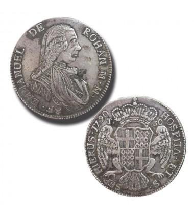 1790 DE ROHAN 30 TARI - KNIGHTS OF MALTA SILVER COIN COIN