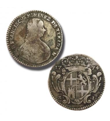 1774 XIMENES SCUDO - KNIGHTS OF MALTA SILVER COIN