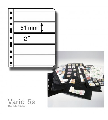 LEUCHTTURM LIGHTHOUSE VARIO 5s PACK OF 5 DOUBLE SIDED PAGES