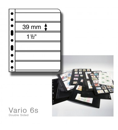 LEUCHTTURM LIGHTHOUSE VARIO 6s PACK OF 5 DOUBLE SIDED PAGES