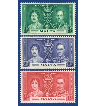 MALTA STAMPS CORONATION