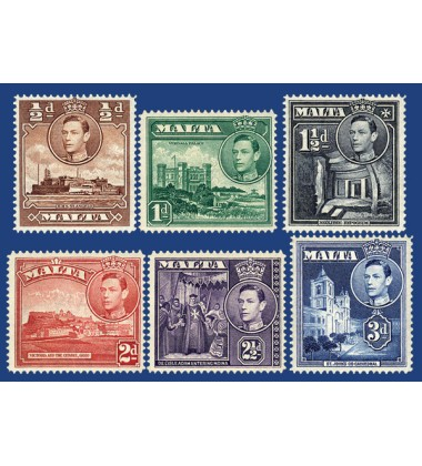 MALTA STAMPS DEFINITIVE NEW COLOURS