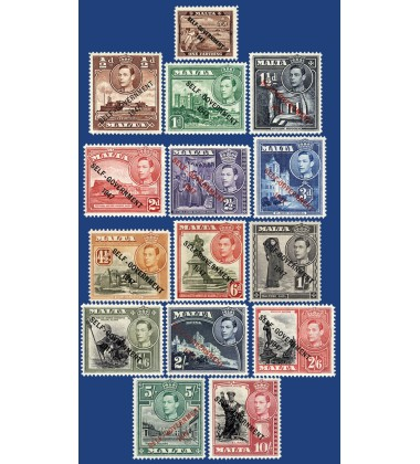 MALTA STAMPS OVERPRINT 'SELF 'GOVERNMENT 1947'