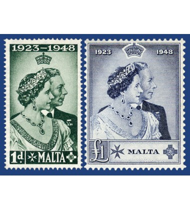 MALTA STAMPS ROYAL SILVER WEDDING
