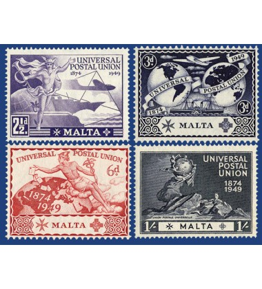 MALTA STAMPS UNIVERSAL POSTAL UNION 75TH ANNIVERSARY