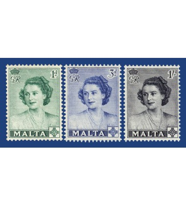 MALTA STAMPS VISIT OF H.R.H. PRINCESS ELIZABETH TO MALTA