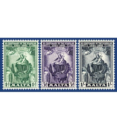 MALTA STAMPS SCAPULAR 7TH CENTENARY