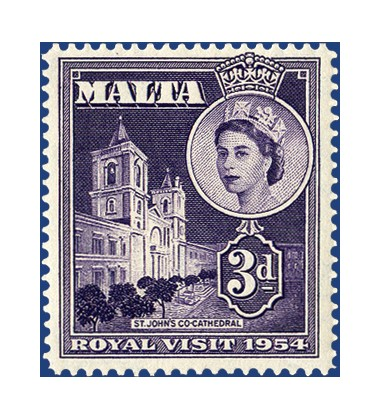MALTA STAMPS ROYAL VISIT