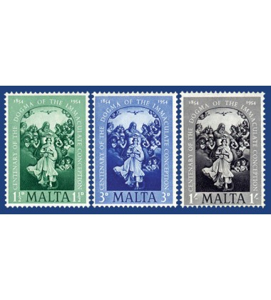MALTA STAMPS CENTENERAY DOGMA OF THE IMMACULATE CONCEPTION