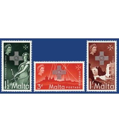 MALTA STAMPS XVTH ANNIVERSARY OF THE GEORGE CROSS AWARD