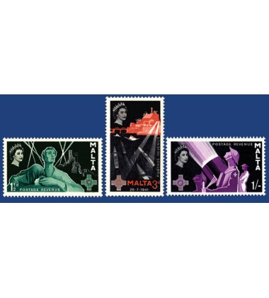 MALTA STAMPS XVITH ANNIVERSARY OF THE GEORGE CROSS AWARD