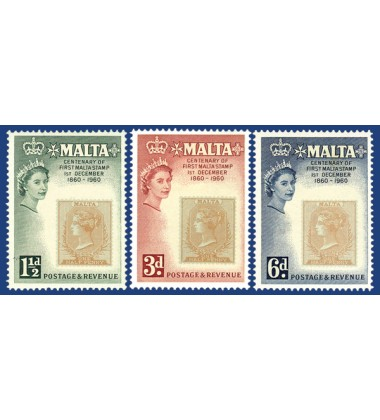 MALTA STAMPS CENTENARY OF THE 1ST MALTA STAMP