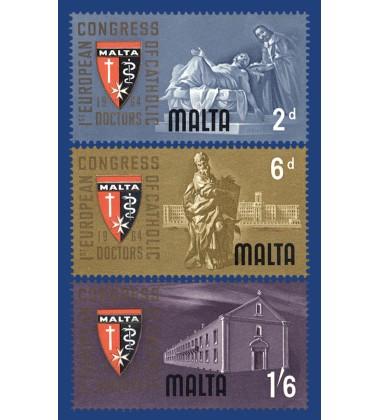 MALTA STAMPS 1ST EUROPEAN CONGRESS OF CATHOLIC DOCTORS