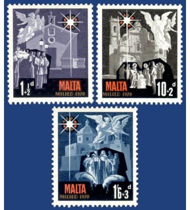 MALTA STAMPS CHRISTMAS 1970