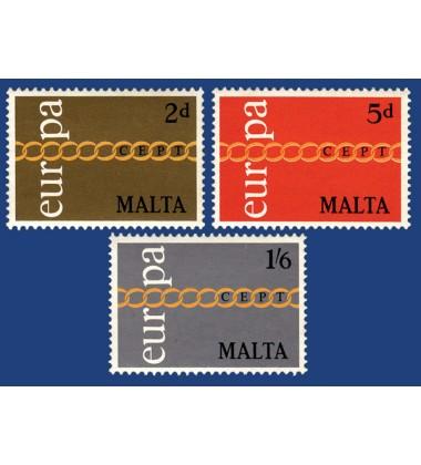 MALTA STAMPS EUROPA 1971