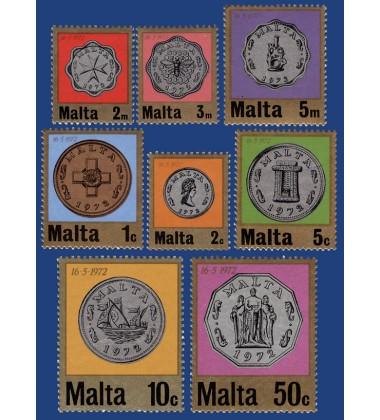 MALTA STAMPS 1ST DECIMAL COINAGE
