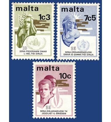MALTA STAMPS INTERNATIONAL ANNIVERSARIES