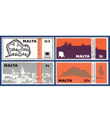 MALTA STAMPS EUROPEAN ARCHITECTURAL HERITAGE YEAR