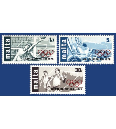 MALTA STAMPS OLYMPIC GAMES - CANADA 1976