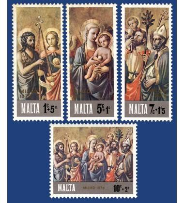 MALTA STAMPS CHRISTMAS 1976