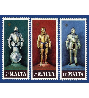 MALTA STAMPS SUITS OF ARMOUR