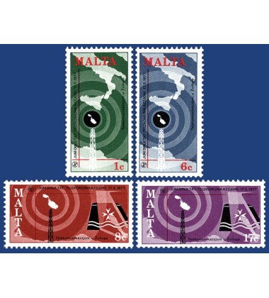 MALTA STAMPS WORLD TELECOMMUNICATIONS DAY