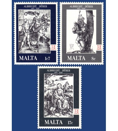 MALTA STAMPS 450TH ANN OF DEATH OF ALBERT D†RER