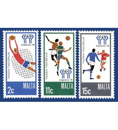 MALTA STAMPS WORLD CUP - ARGENTINA 1978
