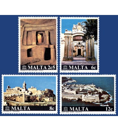 MALTA STAMPS INT RESTORATION OF MALTESE MONUMENTS CAMPAIGN