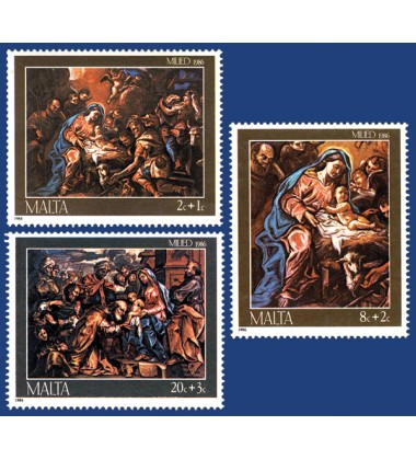 MALTA STAMPS CHRISTMAS 1986