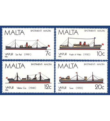 MALTA STAMPS MALTESE SHIPS 4TH SERIES