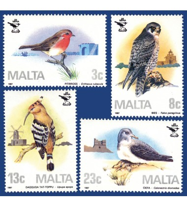 MALTA STAMPS 25TH ANNIVERSARY ORNITHOLOGICAL SOCIETY