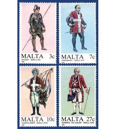 MALTA STAMPS MALTESE UNIFORMS 1ST SERIES