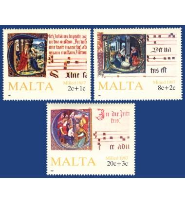 MALTA STAMPS CHRISTMAS 1987