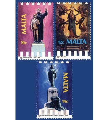 MALTA STAMPS RELIGIOUS COMMEMORATIONS