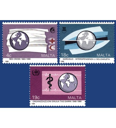 MALTA STAMPS INTERNATIONAL COMMEMORATIONS