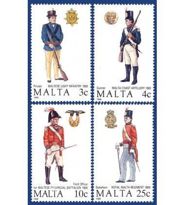 MALTA STAMPS MALTESE UNIFORMS 2ND SERIES