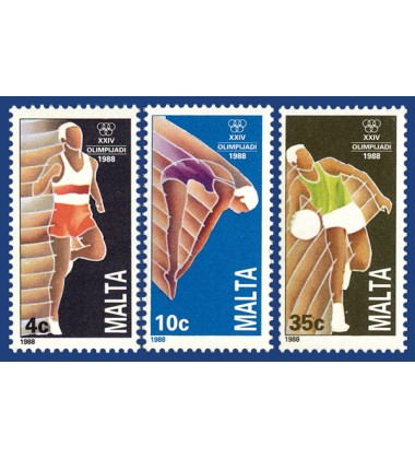MALTA STAMPS OLYMPIC GAMES - SEOUL 1988