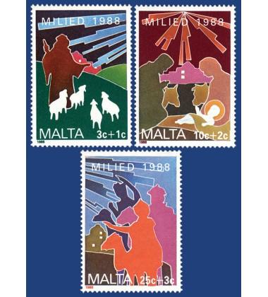 MALTA STAMPS CHRISTMAS 1988