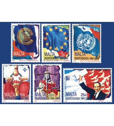 MALTA STAMPS 25TH ANNIVERSARY - THE INDEPENDENCE OF MALTA