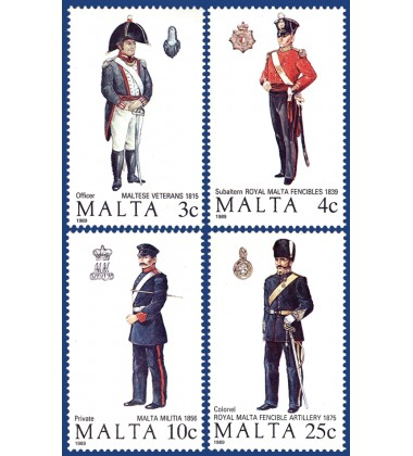 MALTA STAMPS MALTESE UNIFORMS 3RD SERIES