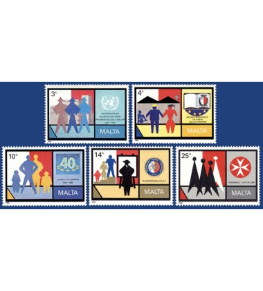 MALTA STAMPS COMMEMORATIONS