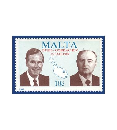 MALTA STAMPS BUSH-GORBACHEV