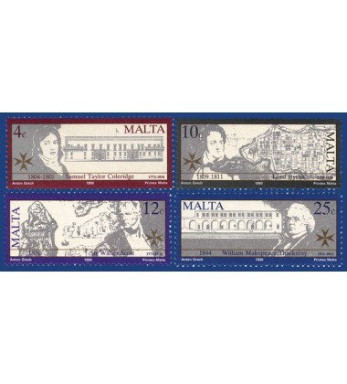 MALTA STAMPS BRITISH MEN OF LETTERS