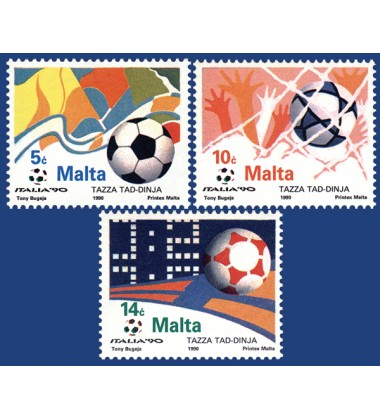 MALTA STAMPS WORLD CUP - ITALY 1990