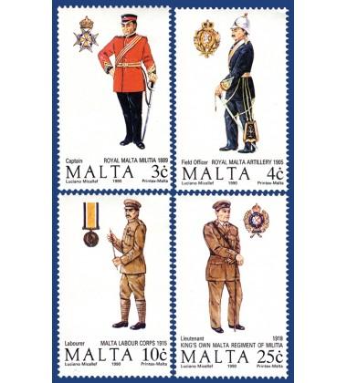 MALTA STAMPS MALTESE UNIFORMS 4TH SERIES
