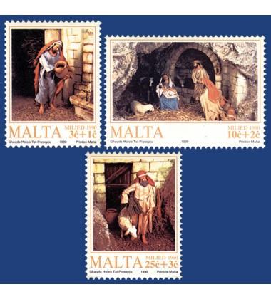 MALTA STAMPS CHRISTMAS 1990