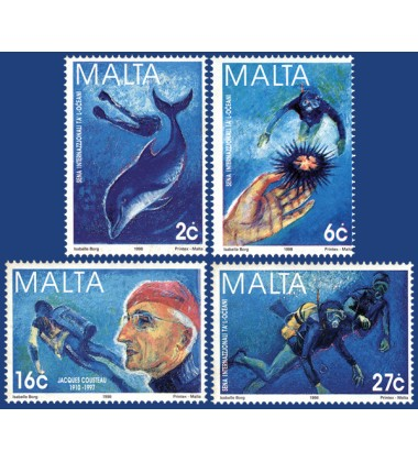 MALTA STAMPS INTERNATIONAL YEAR OF THE OCEAN